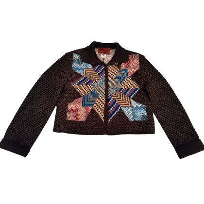 Missoni Rhinestone brown wool felt