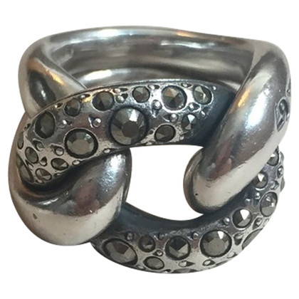 Pomellato Silver ring with gemstones