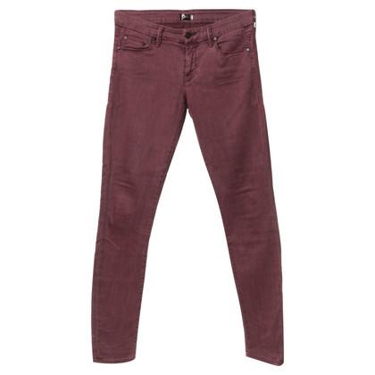 Mother Jeans en rouge