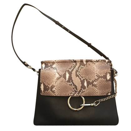 "Chloé ""Faye Bag Medium"" with reptile leather"