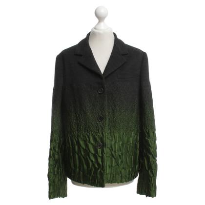 Prada Jacket in green / black