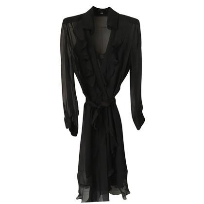 Philosophy di Alberta Ferretti Black zijden jurk