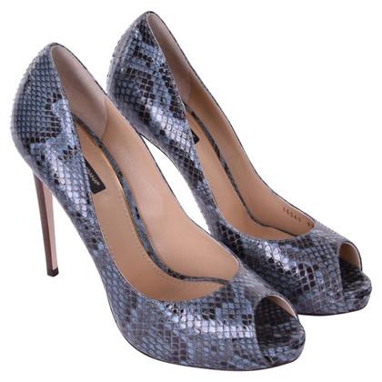 Dolce & Gabbana Toes Snakeskin Peep Blu