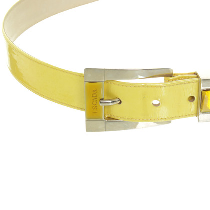 Escada Belt in metallic yellow