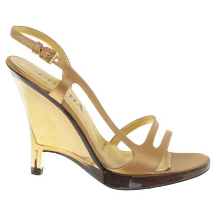 Prada Sandaletten in Gold