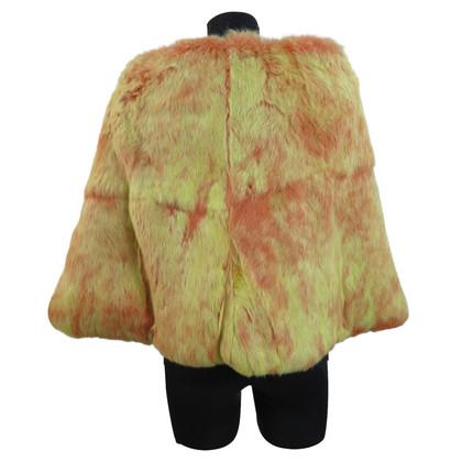 Versace Rabbit fur cape
