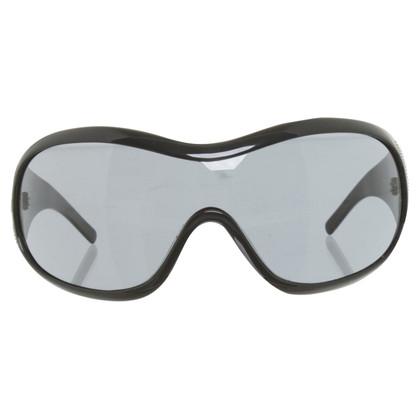 Dolce & Gabbana Monoshade-Sonnenbrille in Schwarz