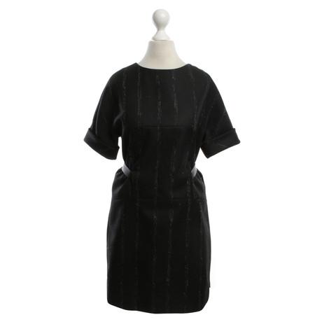 Balenciaga Wollkleid in Bicolor Schwarz / Weiß Günstig Kaufen Manchester Großen Verkauf eUBJcRPZQ