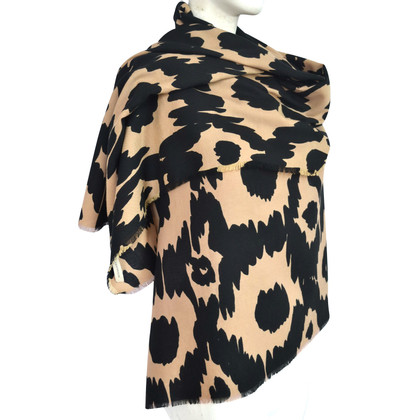 Burberry Wool scarf with animal print