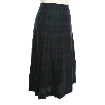 Bogner Pleated skirt with checked pattern