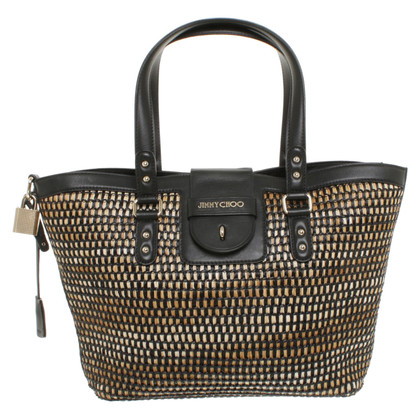 Jimmy Choo Handtas met basketweave