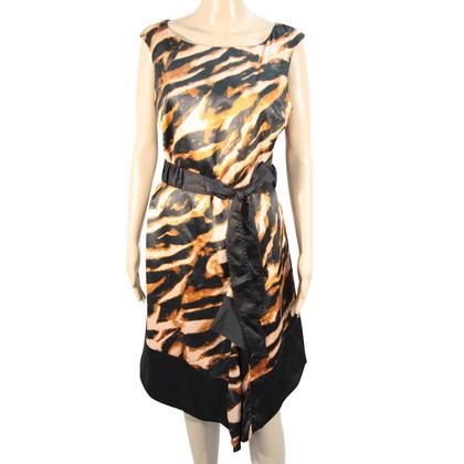 Karen Millen Silk dress with animal pattern