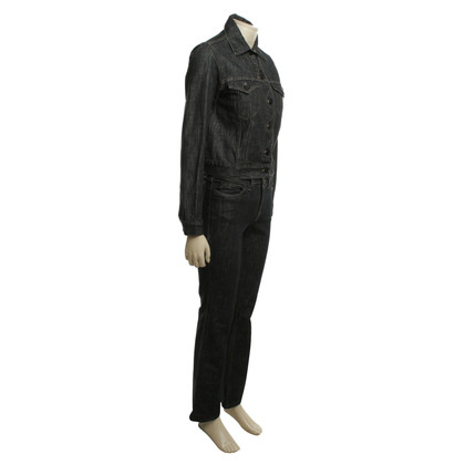 Gucci Jean suit in black