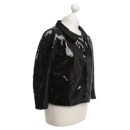 Moschino Jacke mit Pailletten-Besatz