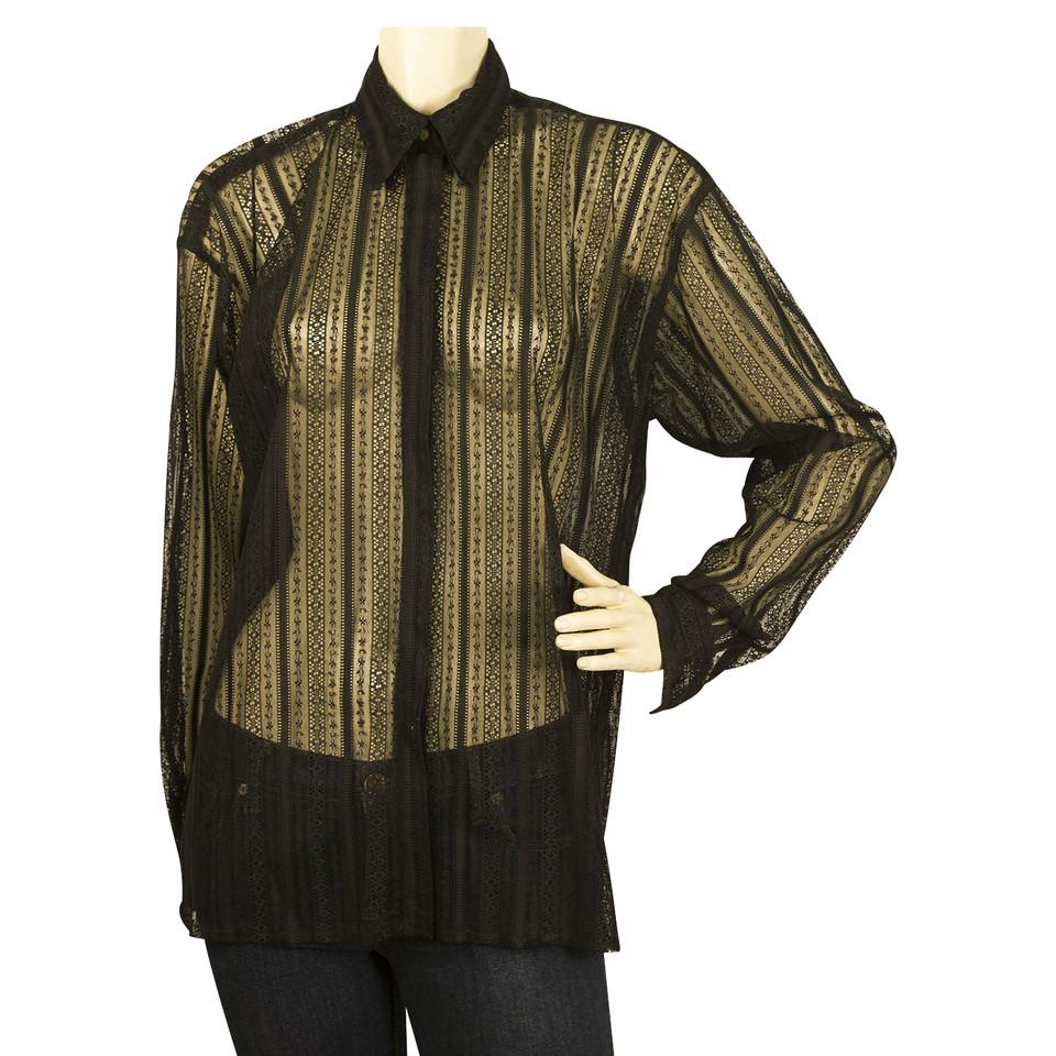 versace transparente bluse second hand versace transparente bluse gebraucht kaufen f r 120 00. Black Bedroom Furniture Sets. Home Design Ideas