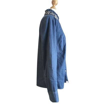 Steffen Schraut camicia di jeans con strass