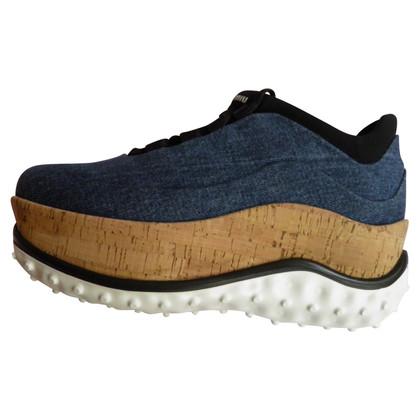 Miu Miu chaussures de sport Plateau