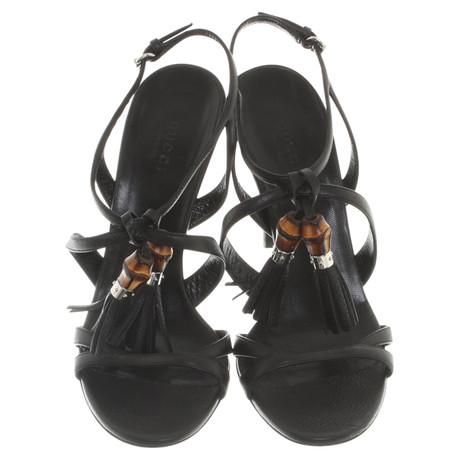 Günstig Kauft Niedrigen Versand Gucci Sandaletten in Schwarz Schwarz Günstig Online Kaufen roSPM1nnC