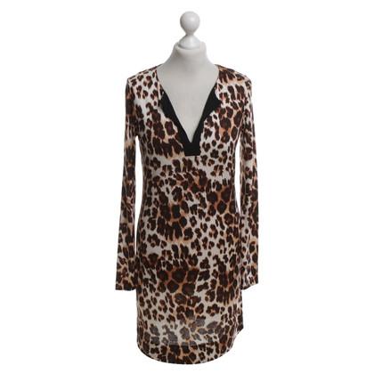 Diane von Furstenberg zijden jurk met luipaardpatroon