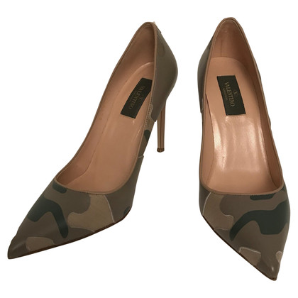Valentino pumps with camouflage pattern