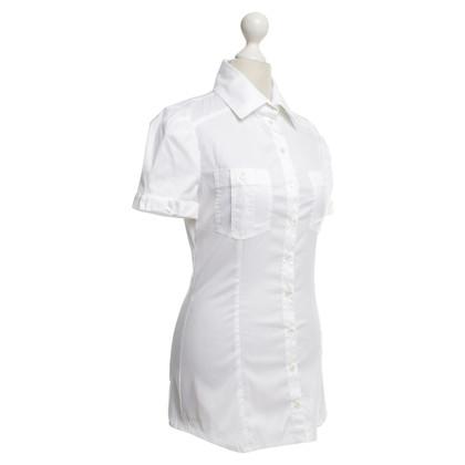 Patrizia Pepe Korte mouwen blouse in het wit