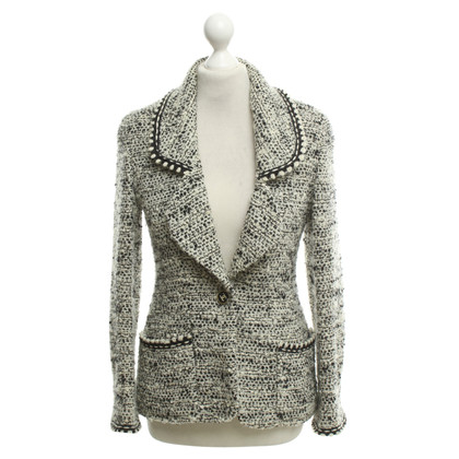 Chanel Giacca Boucle in bianco / nero
