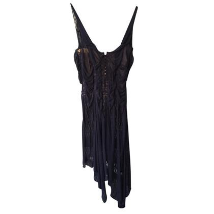 Jean Paul Gaultier Blue Chiffon Dress