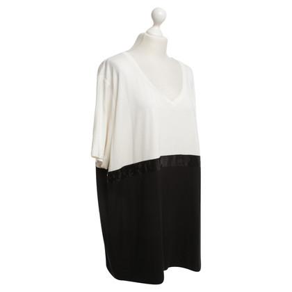 Marina Rinaldi T-Shirt in Schwarz/Weiß