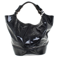 Jil Sander Shopper aus Lackleder