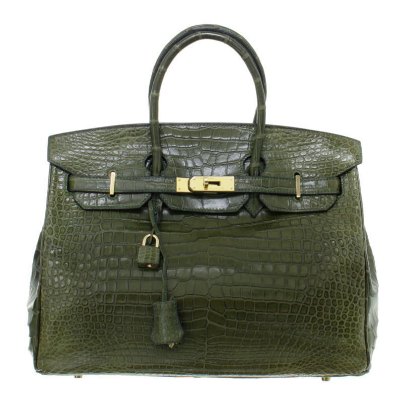 herm s birkin bag 35 alligator vert veronese buy second hand herm s birkin bag 35 alligator. Black Bedroom Furniture Sets. Home Design Ideas