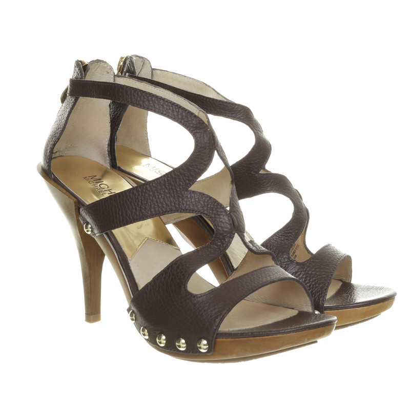 michael kors braune sandaletten second hand michael kors braune sandaletten gebraucht kaufen. Black Bedroom Furniture Sets. Home Design Ideas