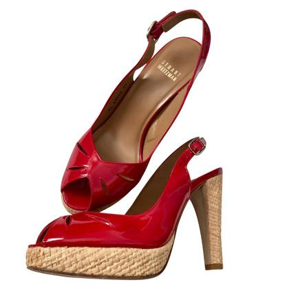 Stuart Weitzman Patent leren sandalen