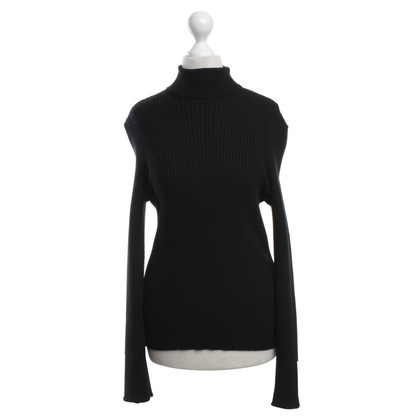 Céline Roll collar sweater in black