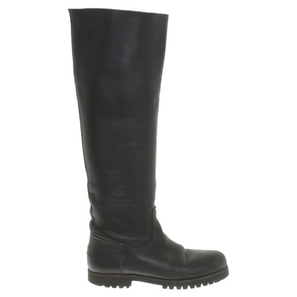 Shabbies Amsterdam Leather boots in black