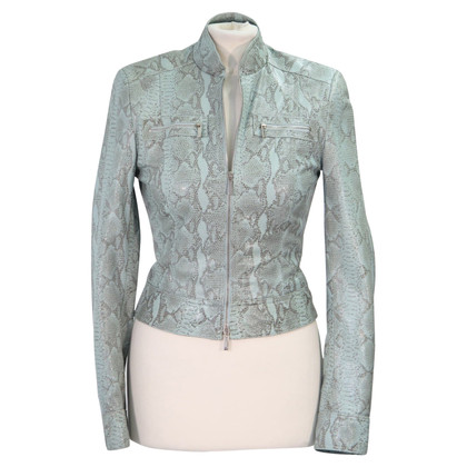 Karen Millen Leather jacket in turquoise