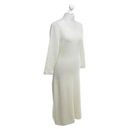 Iris von Arnim Gebreide jurk in cream