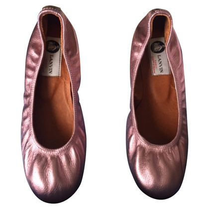 Lanvin Ballat Flat in metallic