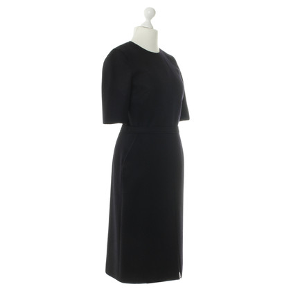 Victoria Beckham Wool Dress in dark blue