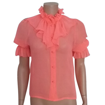 Matthew Williamson Chiffon Blouse with Pussy Bow