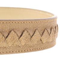 Bottega Veneta Gold belt with Wicker motif
