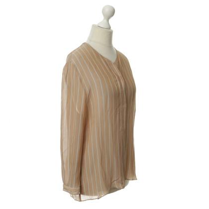 Armani Leggermente trasparente striscia camicetta