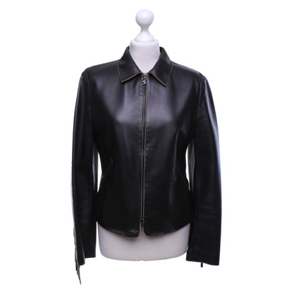 Bogner Leather jacket with fringes