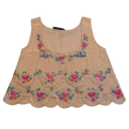 Blumarine Top in seta