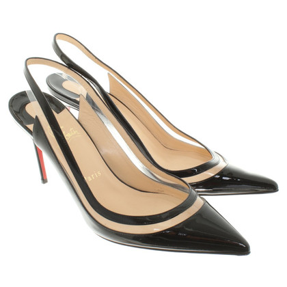 Christian Louboutin Lackleder-pumps in black