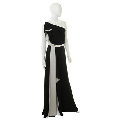 Halston Heritage Asymmetrisches Kleid in Schwarz