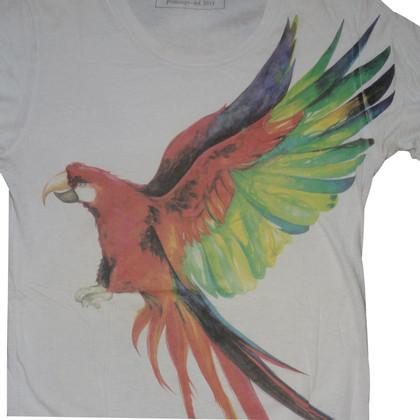 Balmain Shirt mit Papageien-Print