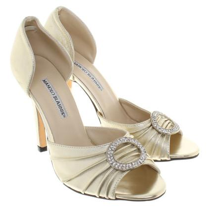 Manolo Blahnik sandales couleur or