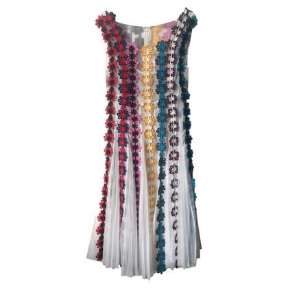 Mary Katrantzou Kleid mit floralem Besatz
