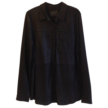 Gestuz Leather blouse in black