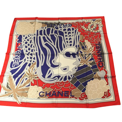 Chanel Silk scarf with a lion's head